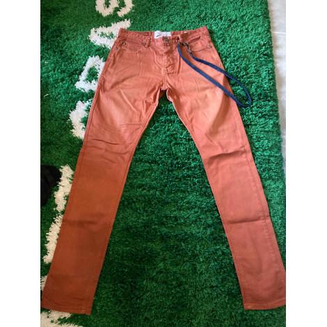 Pantalon slim SIXTH JUNE Beige, camel