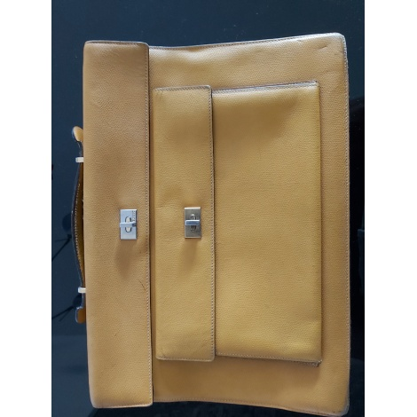 Porte document, serviette BALLY moutarde