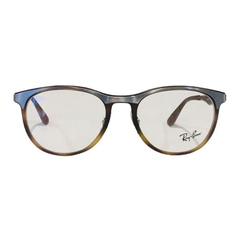 Monture de lunettes RAY-BAN Argenté, acier