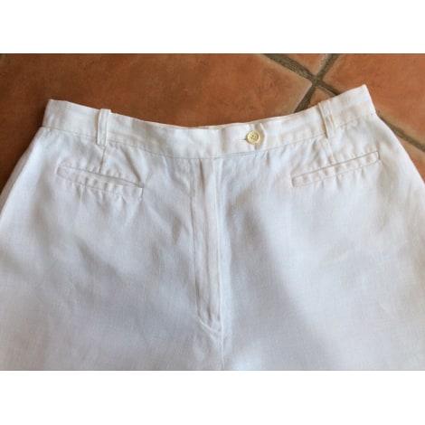 Pantalon droit CAROLL Blanc, blanc cassé, écru