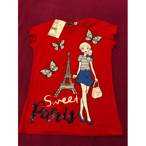 Top, Tee-shirt PLAISIR DE PARIS Rouge, bordeaux