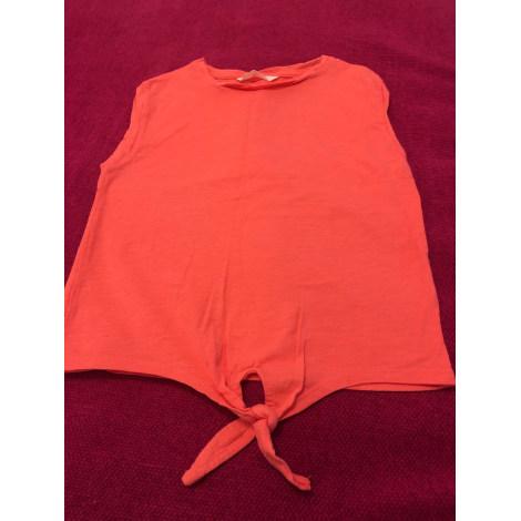 Top, Tee-shirt MANGO Orange