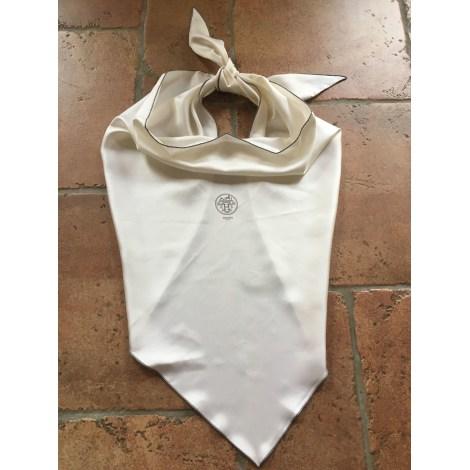 Foulard HERMÈS Losange Blanc, blanc cassé, écru