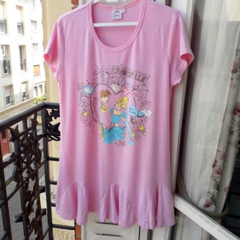 Top, Tee-shirt DISNEY Rose, fuschia, vieux rose