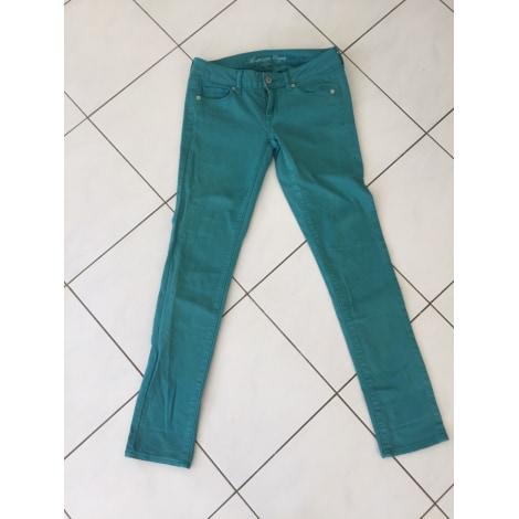 Pantalon slim, cigarette AMERICAN EAGLE OUTFITTERS Bleu, bleu marine, bleu turquoise