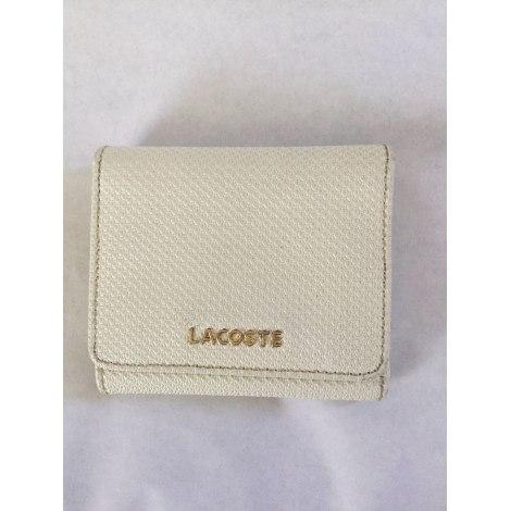 Porte-monnaie LACOSTE Blanc, blanc cassé, écru