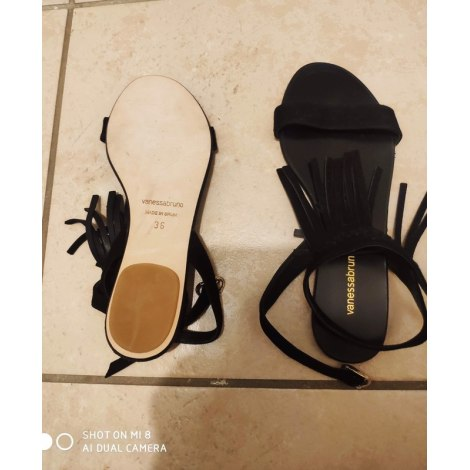 Sandales plates  VANESSA BRUNO Noir