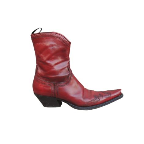 Cowboy Ankle Boots SARTORE Red, burgundy