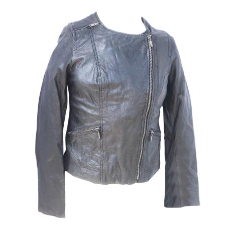 Blouson en cuir SUD EXPRESS Noir