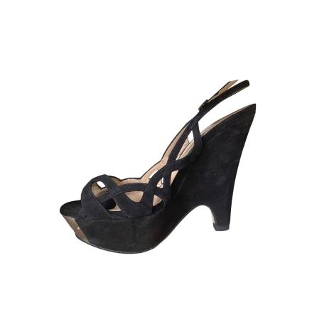 Sandales compensées PURA LOPEZ Noir