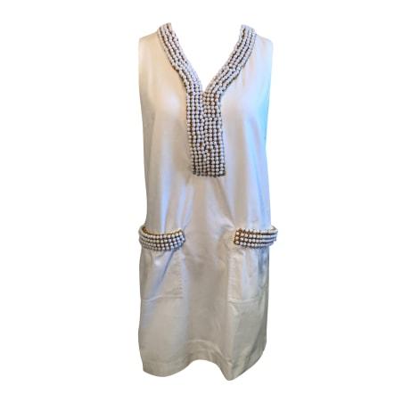 Robe courte MANOUSH Blanc, blanc cassé, écru