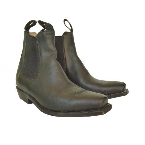 Santiags, bottines, low boots cowboy CALAMEX Noir