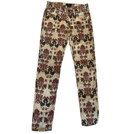 Pantalon slim, cigarette ISABEL MARANT Multicouleur