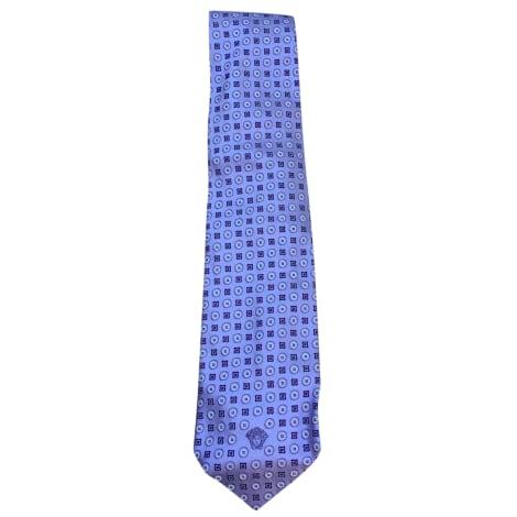 Cravate VERSACE Violet, mauve, lavande