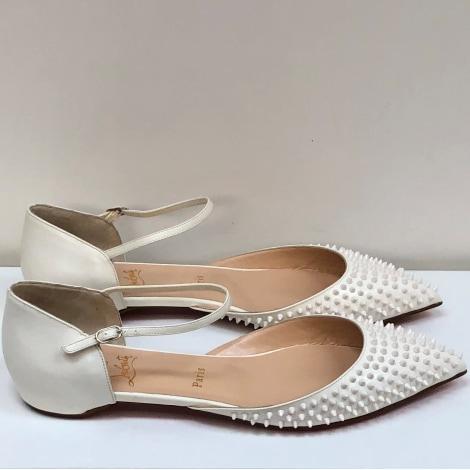 Sandales à talons CHRISTIAN LOUBOUTIN Blanc, blanc cassé, écru