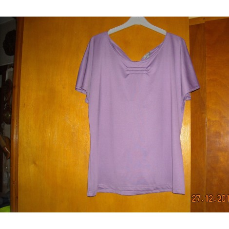 Top, tee-shirt BLEU BONHEUR Violet, mauve, lavande
