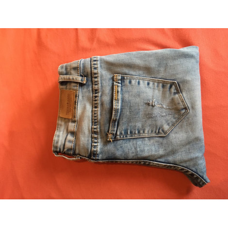Pantalon slim, cigarette TOXIK 3 JEANS Bleu, bleu marine, bleu turquoise