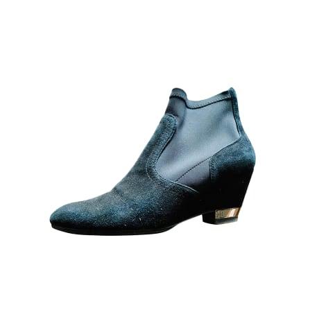 Bottines & low boots à compensés TORY BURCH Noir