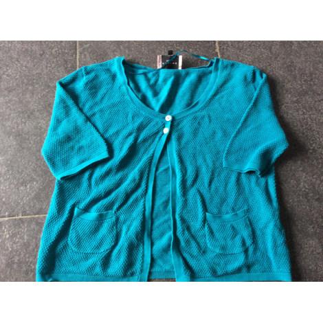Gilet, cardigan AXIOME Bleu, bleu marine, bleu turquoise