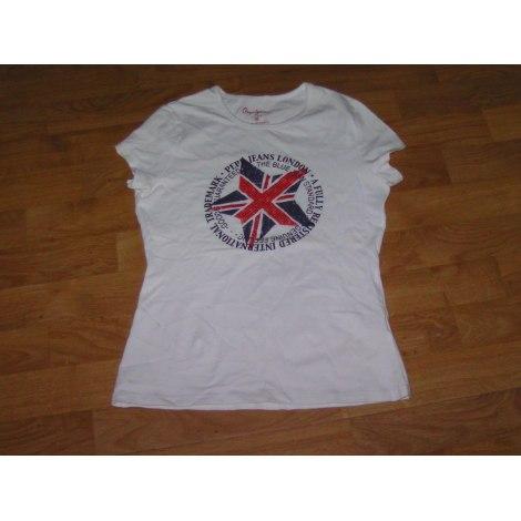 Top, Tee-shirt PEPE JEANS Blanc, blanc cassé, écru