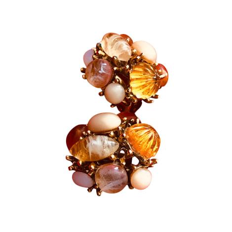 Boucles d'oreille OSCAR DE LA RENTA Doré, bronze, cuivre