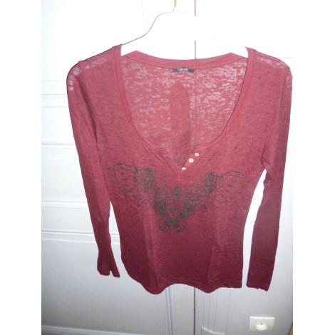 Top, tee-shirt IKKS Rouge, bordeaux