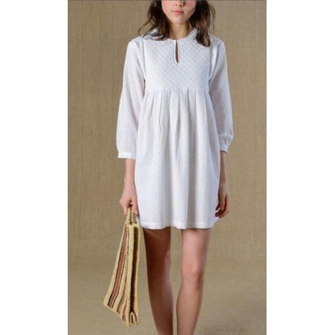 Robe courte SOEUR Blanc, blanc cassé, écru