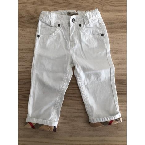 Pantalon BURBERRY Blanc, blanc cassé, écru