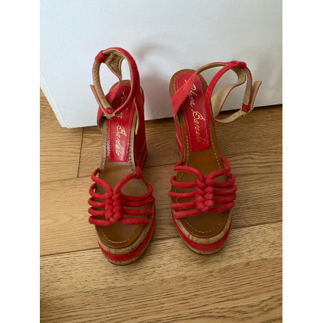 Sandales compensées PALOMA BARCELO Rouge/rose