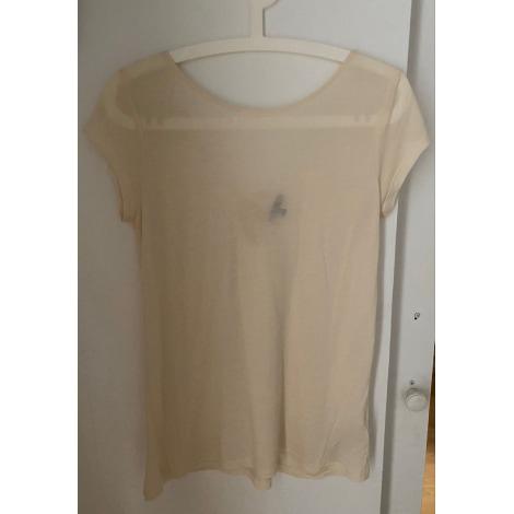 Top, tee-shirt MASSIMO DUTTI Blanc, blanc cassé, écru
