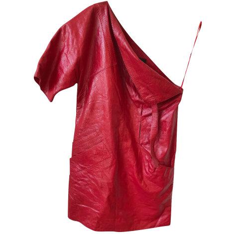 Robe courte LOUIS VUITTON Rouge, bordeaux