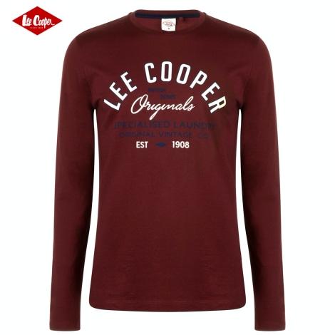 T-shirt LEE COOPER Red, burgundy