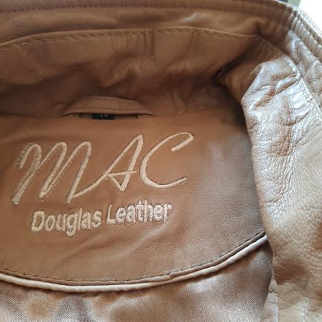 Veste en cuir MAC DOUGLAS Beige, camel