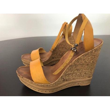 Sandales compensées BOUTIQUE INDEPENDANTE Jaune