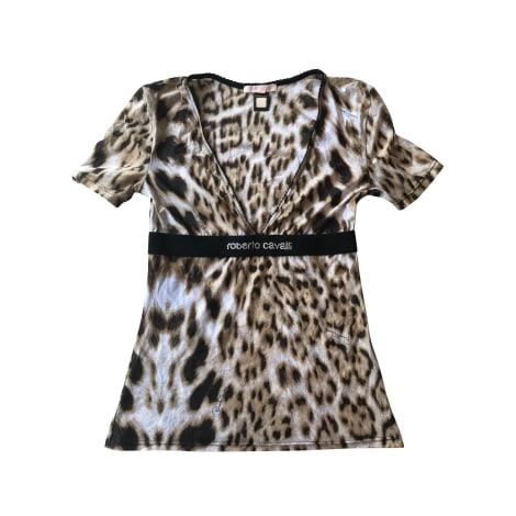 Top, tee-shirt ROBERTO CAVALLI Imprimés animaliers