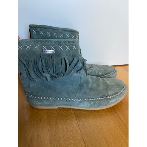 Bottines & low boots plates LES TROPÉZIENNES PAR M. BELARBI Bleu, bleu marine, bleu turquoise