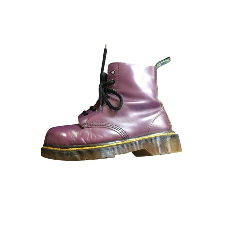 Bottines & low boots plates DR. MARTENS Violet, mauve, lavande