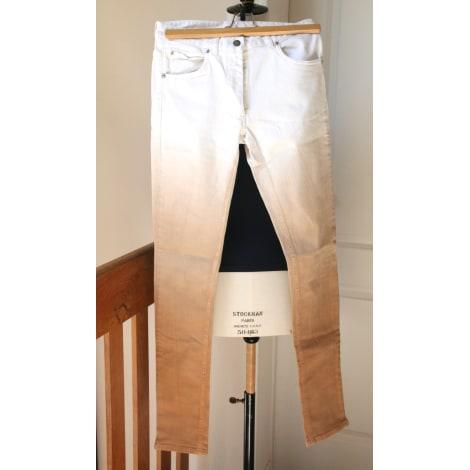 Jeans slim MAISON MARTIN MARGIELA Blanc, blanc cassé, écru