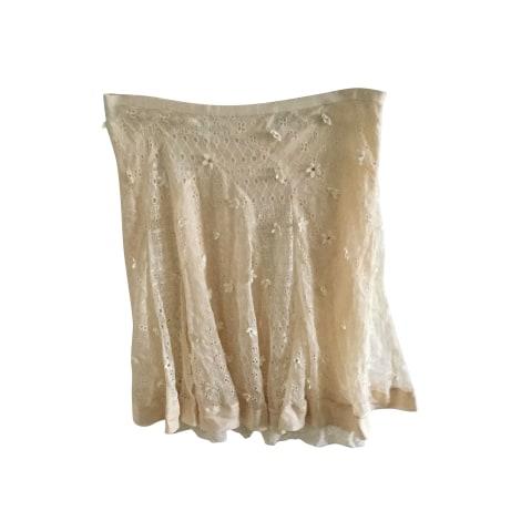 Jupe mi-longue BLUMARINE Blanc, blanc cassé, écru