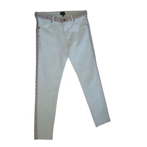 Jeans slim BERENICE Blanc, blanc cassé, écru
