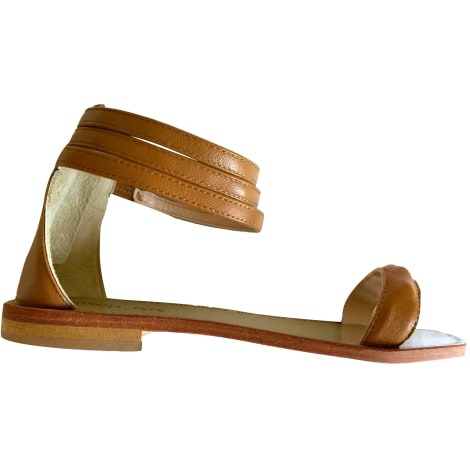 Sandales plates  PATRIZIA PEPE Beige, camel