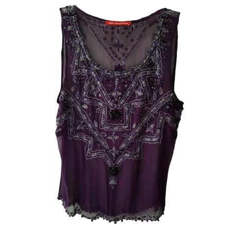 Top, tee-shirt ALAIN MANOUKIAN Violet, mauve, lavande