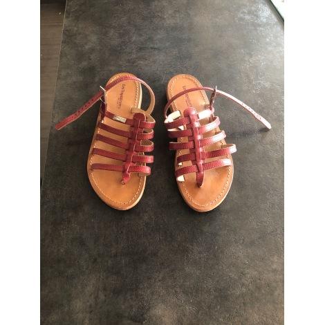 Sandales plates  LES TROPÉZIENNES PAR M. BELARBI Rouge, bordeaux