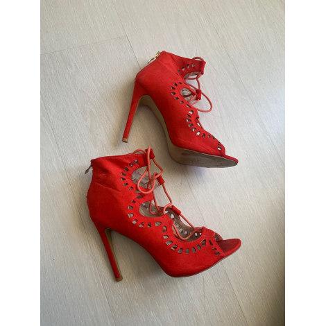 Sandales à talons MARQUE INCONNUE Rouge, bordeaux