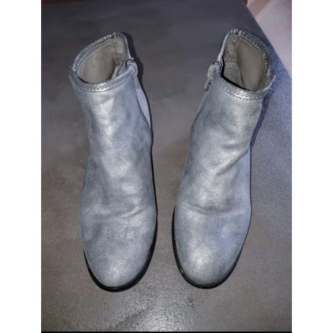 Bottines & low boots à talons CACHE CACHE Argenté, acier
