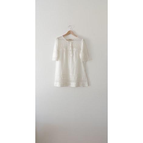 Robe courte DEBY DEBO Blanc, blanc cassé, écru