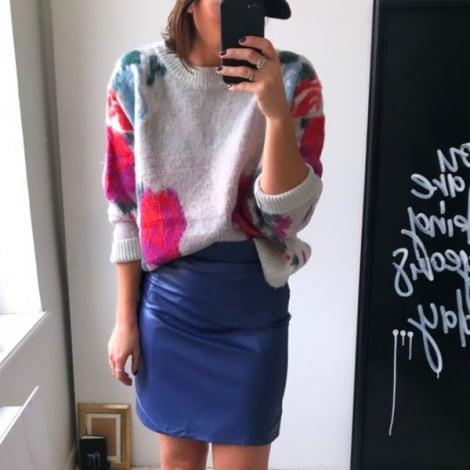 Jupe courte JANE WOOD Bleu, bleu marine, bleu turquoise