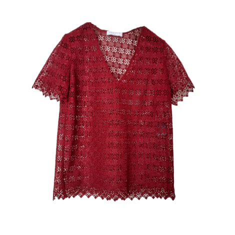 Top, tee-shirt SANDRO Rouge, bordeaux