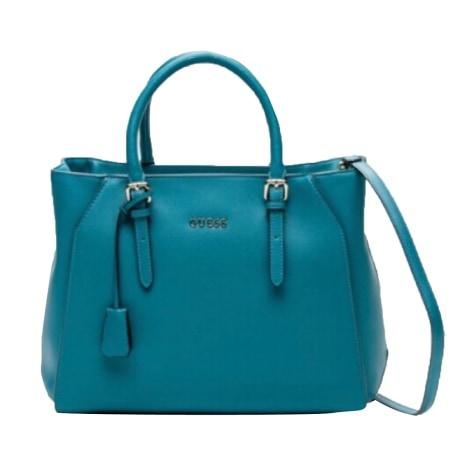 Sac en bandoulière en cuir GUESS Bleu, bleu marine, bleu turquoise