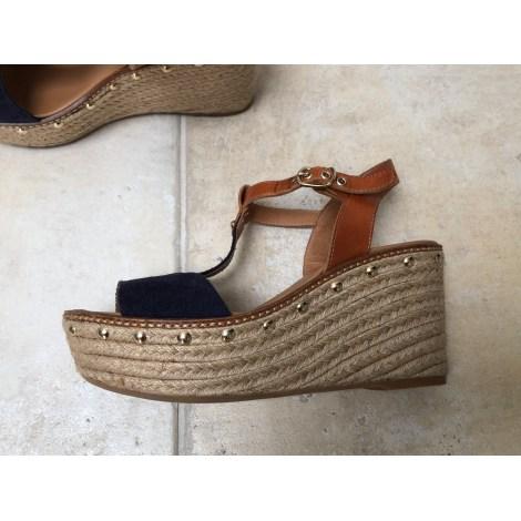 Sandales compensées MAYPOL Bleu, bleu marine, bleu turquoise